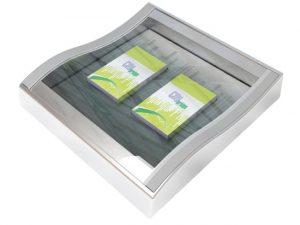 """Zahlteller aus Glas-Plastik """"Box de Lux"""""""