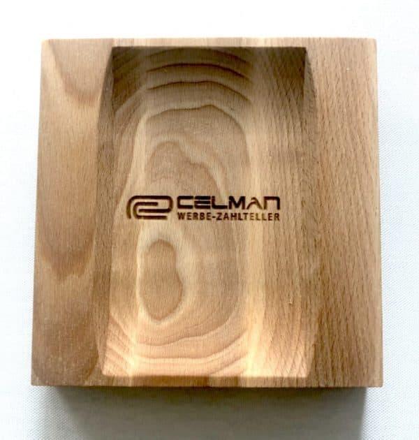 "Zahlteller aus Holz ""Wood 2"", 175 x 175 mm"